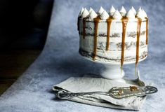 Sjokoladekake med salt karamellsmørkrem