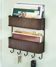Bronze Twillo Wall Mount Two-Tier Mail Center | zulily