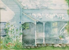 A watercolor I did of my Granny's House