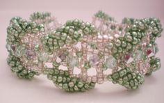 Bead weaving | Bead weaving with seed beads and swarovski ... | My Handmade Creations