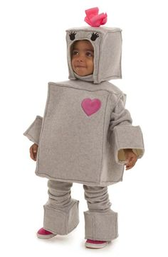 Rosalie the Robot Toddler Costume - This robot is programmed to steal your heart! Rosalie the Robot Toddler Costume includes grey body suit, hood, arm w Baby Girl Halloween Costumes, Toddler Costumes, Baby Costumes, Halloween Ideas, Family Costumes, Halloween 2015, Adult Costumes, Robot Costumes, Robot Girl