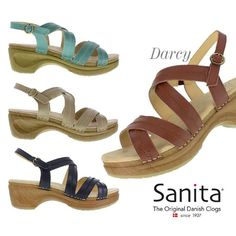 A strappy summer sandal with cushioned footbed, excellent arch support and rocker sole.