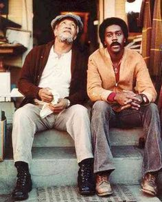 Redd Foxx and Demond Wilson.Sandford and Son . great show! Old Tv Shows, Movies And Tv Shows, Steptoe And Son, Nerd Boyfriend, Norman Lear, Redd Foxx, Sanford And Son, Vintage Tv, Business Casual