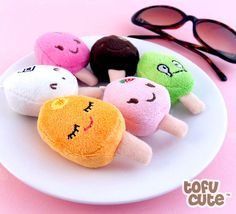 Kawaii Popsicle Plush Phone Charm
