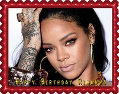 Rihanna 1 Edible Birthday Cake Topper OR Cupcake Topper, Decor