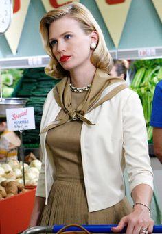 January Jones as Betty Draper - 'Mad Men', Season 1 Betty Draper, Don Draper, Fashion 60s, Mad Men Fashion, Vintage Fashion, Fashion Photo, Vintage Style, Fashion Ideas, Mad Men Mode