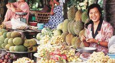 Mercado de fruta en Vietnam