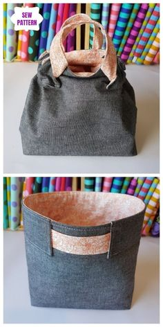 Das Woppet-Eimer-Schnittmuster Fabric Crafts fabric crafts Sewing Hacks, Sewing Tutorials, Sewing Crafts, Sewing Tips, Sewing Art, Sewing Ideas, Fabric Sewing, Dress Tutorials, Diy Bags Purses