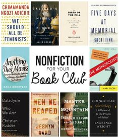Nonfiction Titles to Get Your Book Club Talking