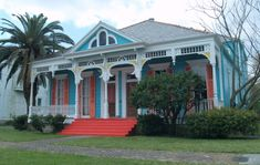 Colorful home, Uptown New Orleans.