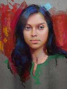 On the Verge by William Schneider Pastel ~ 20 x 16