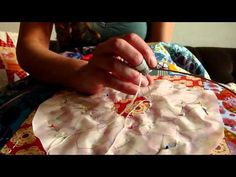 hand quilting using paper patterns. fab tute by Leila of Where the Orchids grow. so excited by this method!