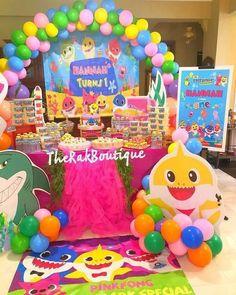 Park Birthday, Baby Girl Birthday, 3rd Birthday Parties, 2nd Birthday, Birthday Ideas, First Birthday Decorations Girl, Shark Party, 1st Birthdays, Baby Shark