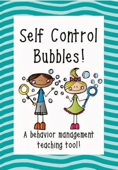 Self-Control Bubbles: A behavior management teaching tool (with FREE printable! Bubble Activities, Counseling Activities, Social Skills Activities, Anger Management Activities For Kids, Preschool Behavior Management, Teen Activities, Feelings Activities, Leadership Activities, Group Counseling