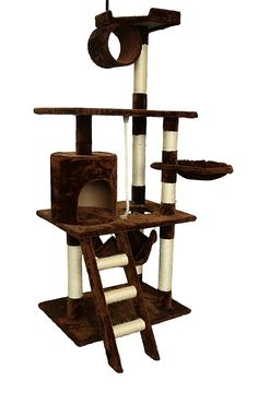 TOCO 61Inch Cat Tree Furniture Cat Scratcher Tower Condo with Hammock *** Insider's special review you can't miss. Read more  : Cat Tree