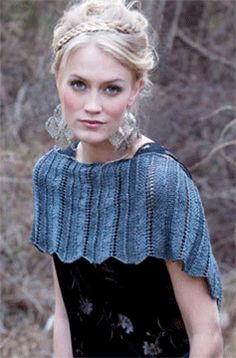 FREE PATTERN! Natalie Shrug, As Seen on Knitting Daily TV Episode 613