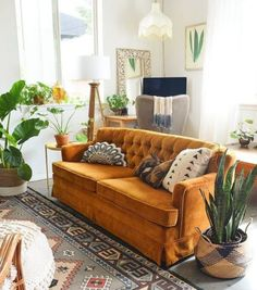 Home Decor Inspiration home decor home inspiration furniture lounges decor bedro… – High Quality Marble Kitchens Orange Couch, Yellow Sofa, Bedroom Yellow, Interior Design Living Room, Living Room Decor, Living Spaces, Bohemian Living Rooms, Oranges Sofa, Deco Boheme
