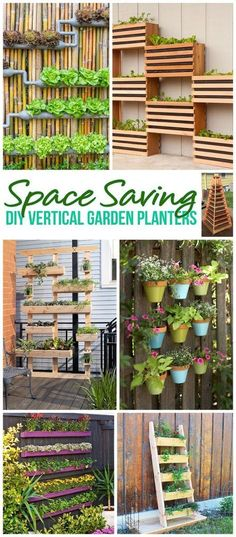 DIY Projects for the Weekend! The BEST Do It Yourself Space Saving Vertical Garden Planters - Tutorials and How To Projects for your Home | Dreaming in DIY
