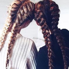 Braids Goals Blonde or Brunette  #hair #hairstyle #fashion#haircut #haircolor#braids#hairtutorials #blonde#brunette#brown Source: unknown please tag or dm