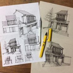 "12.5k Likes, 17 Comments - ArchiSketcher (@archisketcher) on Instagram: ""Facade ideas by Jakarta-based designer @yandi_p #ArchiSketcher"""