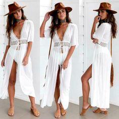 Beachwear Fashion, Beachwear For Women, Beach Fashion, Fashion Top, Fashion 2017, Fashion Clothes, Fashion Women, Fashion Online, Fashion Design