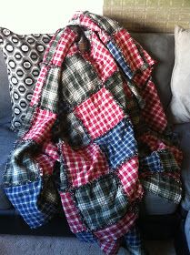 Cowpats and Sandcastles: Winter warmer.... DIY Rag Quilt!