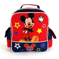 """Disney Mickey Mouse - Funny Things Collection 12"""" Toddler Size School Backpack http://amzn.to/Igtmxo"""
