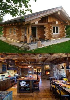 Why You Should Consider Buying a Log Cabin - Rustic Design Log Cabin Living, Small Log Cabin, Tiny House Cabin, Log Cabin Homes, Luxury Log Cabins, Log Home Designs, Cabin In The Woods, Cabins And Cottages, Style At Home