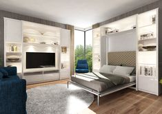 Łóżko w szafie Smart Bed Classic Smart Bed, Smart Furniture, Futuristic Furniture, Bed Wall, Lounge Sofa, Murphy Bed, Love Design, Small Spaces, Classic