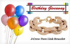 JustPatience-Birthday-Giveaway-JCrew-Pave-Link-Bracelet