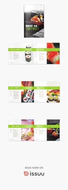 Modern Sushi Cook Book  Personal Project for Intermediate Layout