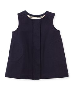 Sleeveless Shift Dress, Navy, 3-18 Months  by Burberry at Neiman Marcus.