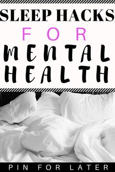 Sleep Tips for Mental Health - Radical Transformation Project Try these sleep tricks if you're struggling with depression and anxiety Improve Mental Health, Good Mental Health, Mental Health Awareness, Depression Treatment, Mental Health Disorders, Stress Disorders, Bipolar Disorder, Health, Tips
