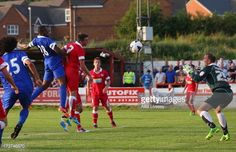 17 July 2013 Victor Anichebe heads home during a pre season friendly with Accrington Stanley