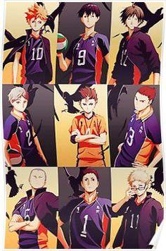 The Karasuno team Kagehina, Kuroo X Kenma, Nishinoya Yuu, Haikyuu Karasuno, Hinata Shouyou, Daisuga, Tsukishima Kei, Manga Anime, Manga Haikyuu