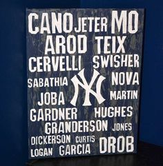 New York Yankees Baseball 12x16 Canvas Board Painting by 21CannonSalute, $22.00