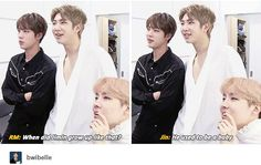eomma JIN and appa Namjoon watching their baby JIMIN grow This is too cute X3
