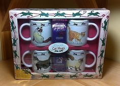 Creative Gourmet Cat Lovers Limited 1997 Series Collectible Mugs Original Box Кружки и чашки