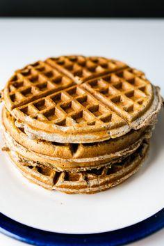 Recipe for buckwheat & pecan (or walnut) waffles. A healthy breakfast!