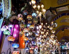 Lanterns for sale in the Grand Bazaar, Istanbul, Turkey
