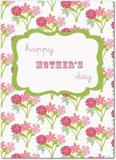 Beau Bouquets - Mother's Day Greeting Cards - Design Collective - Lipstick - Pink : Front