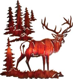 "18"" Elk Wall Art www.rusticeditions.com"
