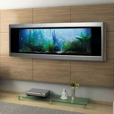 21 Gallon Rectangle Wall Freshwater Tropical Fish Aquarium Silver Finish 5 ft