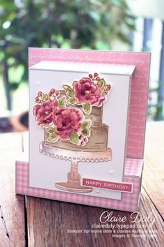 Stampin' Up! 2020 Saleabration Happy Birthday To You Pop Up Card (Stampin Up Australia: Claire Daly Independent Demonstrator) Happt Birthday, Birthday Cake Card, First Birthday Gifts, Happy Birthday Sister, Happy Birthday Cakes, Birthday Wishes, Birthday Images, Birthday Quotes, Birthday Greetings