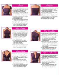 Ways to wear an infinity dress
