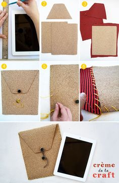 DIY: iPad Case From Cork + T-Shirt