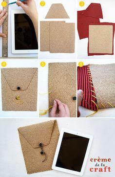 Hier einmal eine tolle Idee zum Nachmachen: ein Do-It-Yourself Ipad Case aus #Kork
