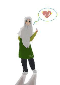 Love Allah by yana8nurel6bdkbaik.deviantart.com on @deviantART