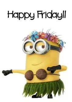 happy friday images photo: Happy Aloha Minion Hula Friday IMG_10857379879455.jpeg