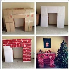 We get plenty of boxes from Baker and Taylor throughout the year.....all the same size.  Why not keep the boxes and create a portable fireplace.